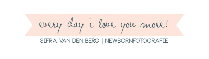 Every Day I Love You More! Pure newbornfotografie logo